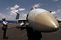 US Navy 040716-N-7732W-005 A Final Checker communicates with the pilot of an F-A-18E Super Hornet.jpg