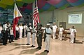 US Navy 060815-N-9851B-003 A Philippine Navy color guard parades the colors for the opening ceremony for the sixth phase of Cooperation Afloat Readiness and Training (CARAT).jpg