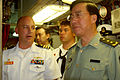 US Navy 080708-N-9486C-003 Lt. Gen. Zhang Qinsheng, commander of Guangzhou Military Region, China, tours the control room of the fast-attack submarine USS Santa Fe (SSN 763).jpg