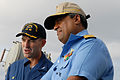 US Navy 081020-N-1635S-013 Capt. John P. Nolan, commanding officer of the Ticonderoga-class guided-missile cruiser USS Chancellorsville (CG 62), speaks with Rear Adm. Anil Chopra, flag officer in command of the Indian Navy's we.jpg