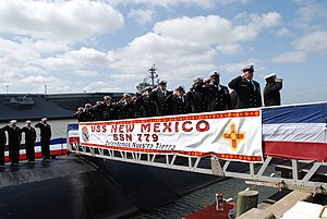 USS New Mexico (SSN-779) - Image: US Navy 100327 N 8750E 203 Sailors bring USS New Mexico to life