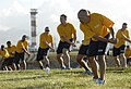 US Navy 101117-N-7498L-297 Sailors assigned to Afloat Training Group, Middle Pacific, attend a special fitness training session with Gilad Janklowi.jpg