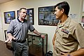 US Navy 110720-N-HW977-134 Capt. Jay Kadowaki, right, commanding officer of Naval Surface Warfare (NSWC) Center, Corona Division, meets with Robert.jpg
