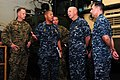 US Navy 110929-N-WA347-040 Capt. Bradley Lee and Capt. David Fluker speaks with Vice Adm. Scott H. Swift.jpg