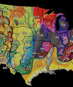 Geography of the Interior United States - Image: US interior physiographic regions map