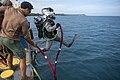 UTC-2 conducts maintenance on piers in Guam. (49399273771).jpg