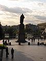 UW Washington statue sunset.JPG
