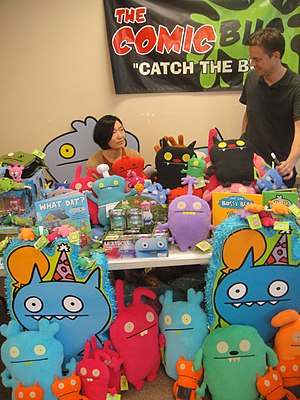 Uglydoll - Sun-Min Kim and David Horvath, the creators of Uglydolls, at the 2012 Free Comic Book Day
