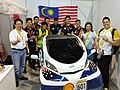 "UiTM Eco-Planet, with the hydrogen vehicle ""Hornet"", competing in the UrbanConcept category. -shellecomarathon -makethefuture (33443108256).jpg"