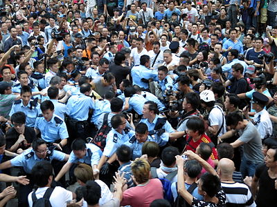 Umbrella Revolution Conflict in Mong Kok 20141003.jpg