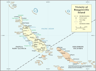 Carteret Islands - District map of Bougainville (North Solomons)