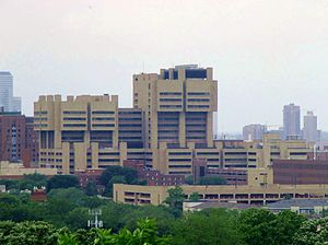 University of Minnesota Medical Center - Phillips-Wangensteen, Moos Tower and other buildings in the East Bank complex