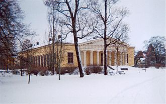 Louis Jean Desprez - Image: Uppsala Botanical Garden in winter