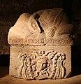 Urnette della collezione bargagli petrucci, 09 testa di gorgone alata.jpg
