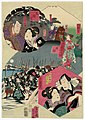 Utagawa Kunisada II - Acts VIII, IX, X, and Act XI - Conclusion, The Night Attack.jpg