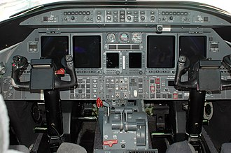 Learjet 45 - flight deck