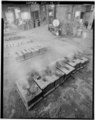 VIEW OF COOLING BELL MOLDS - Bevin Brothers Bell Shops, Bevin Court, East Hampton, Middlesex County, CT HAER CONN,4-HAMPE,1-11.tif