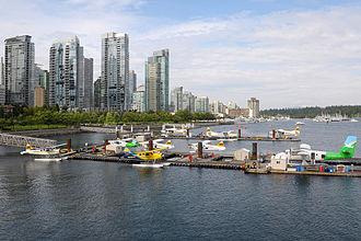 Vancouver Harbour Flight Centre - Image: Vancouver Harbour Water Airport (CXH CYHC) overview