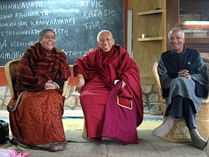 Vandana Shiva, Samdhong Rinpoche, and Satish K...