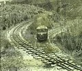 Vauxhall railbus on the two foot gauge Lake Margaret tram in South Western Tasmania, photo by LB Manny (cropped, 02).jpg