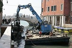 Venice - Canal excavator