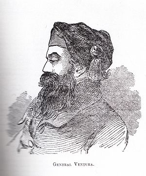 Jean-Baptiste Ventura - Sketch from Charles Grey's European Adventurers of Northern India (Lahore: 1929)