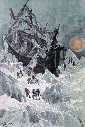 Illustration de Le Sphinx des glaces