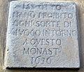 Via della colonna 34, monastero s.m.angiolini, lapide ss. otto 1636.JPG