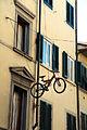 Via romana, decorazioni ntaliazie a tema ciclistico, natale 2014, 01.JPG
