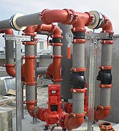 Large pipes connected with clamps