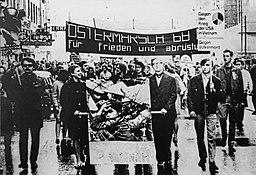 Vietnam War protests in Vienna, Austria (Greyscale)