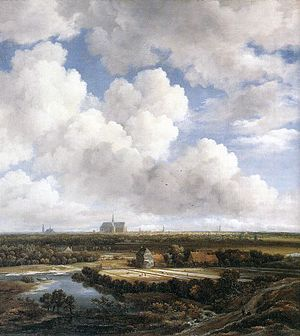 View of Haarlem with Bleaching Grounds c1665 Ruisdael