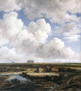 View of Haarlem with Bleaching Fields - Image: View of Haarlem with Bleaching Grounds c 1665 Ruisdael