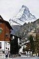View of Matterhorn from Zermatt village, Valais, Switzerland.jpg