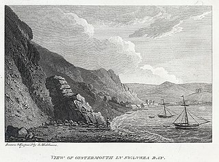 View of Oystermouth in Swansea bay