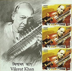 Vilayat Khan 2014 stampsheet of India cr.jpg