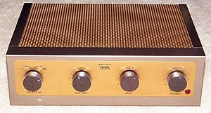 Eico - Image: Vintage Eico Audio Amplifier, 6 Tubes, Metal Case, Model HF 12, Circa 1959 (12685181673)
