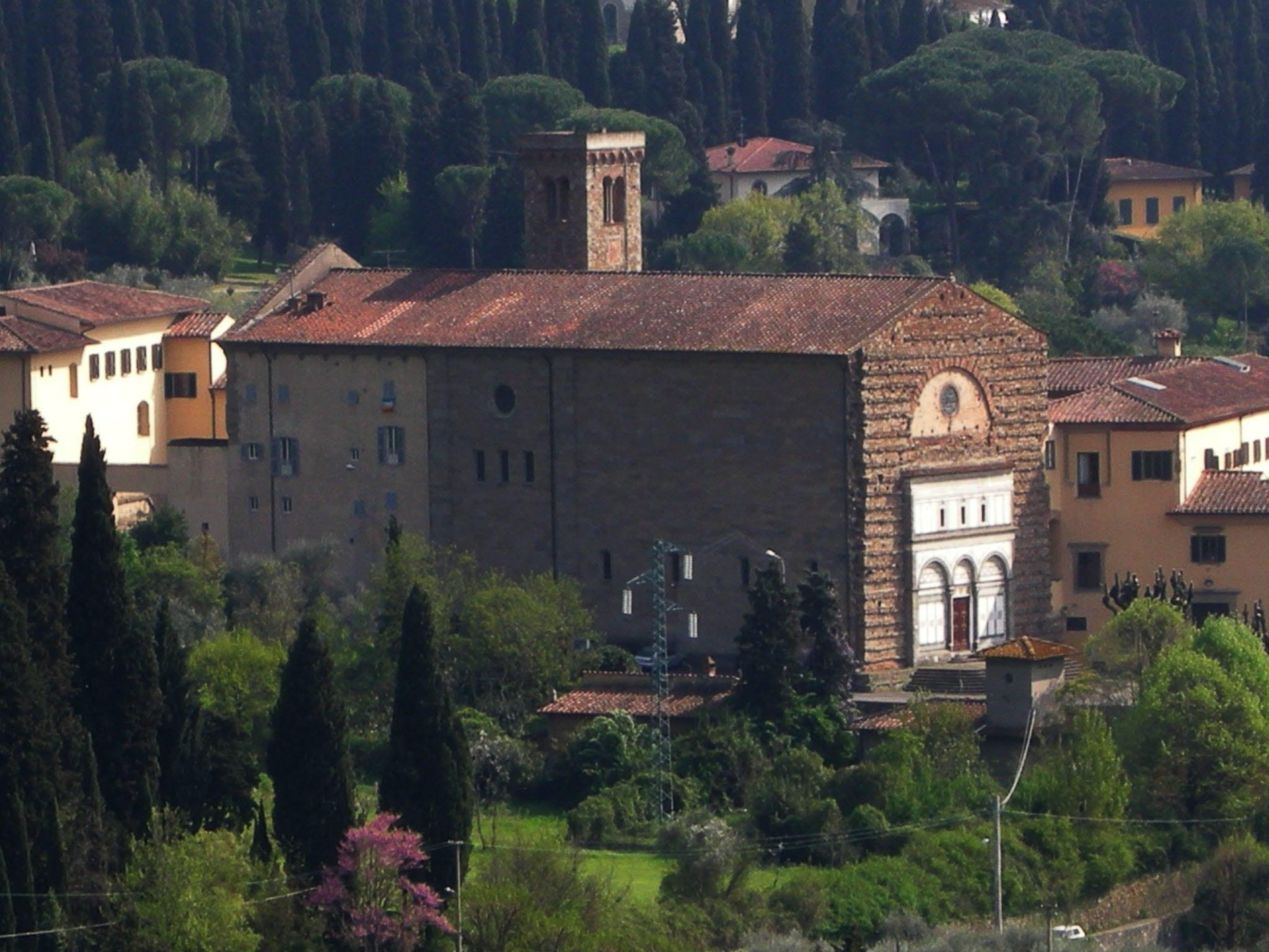 Fiesole, Badia Fiesolana, San Domenico, vista  da Monterinaldi