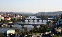 Pohled na Vltavu z pražské Letné