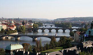 The Vltava in Prague