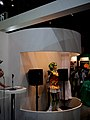 Vocaloid + HRP-4C Miim collaboration, Yamaha booth, CEATEC JAPAN 2009.jpg