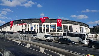 December 2016 Istanbul bombings - Vodafone Arena and Dolmabahçe-Gazhane avenue after the attacks, 16 December 2016