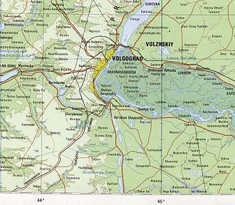 Volgograd - Volgograd on the 1979 map