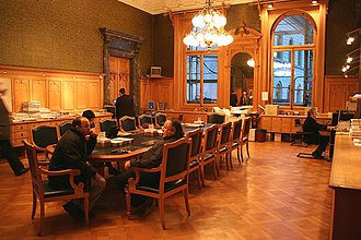 National Council (Switzerland) - The antechamber of the National Council hall