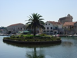 Vrboska, island and church of St Mary of Grace.jpg