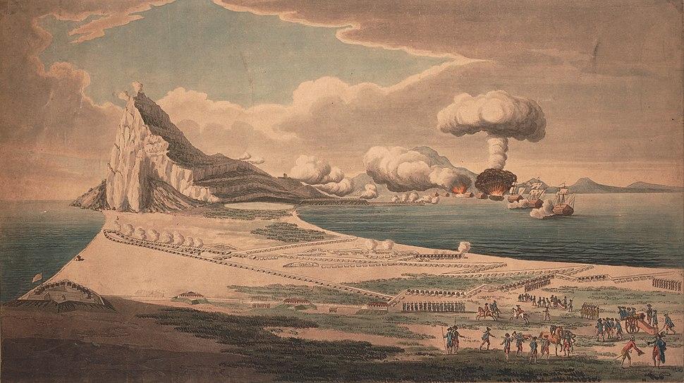 Vue du siege de Gibraltar et explosion des batteries flottantes 1782.jpeg