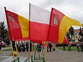Włocławek-Flags of Poland and Włocławek during Independence Day 2017.jpg