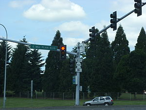 Washington State Route 501 - The southern terminus of SR 501 at an interchange with I-5 in Downtown Vancouver