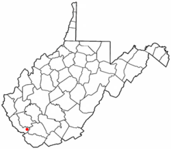 Location of Gilbert Creek, West Virginia