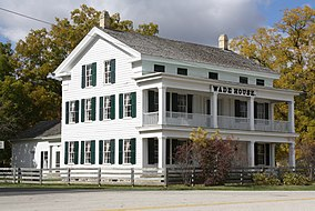 Wade House in Fall Foliage September 2012.jpg
